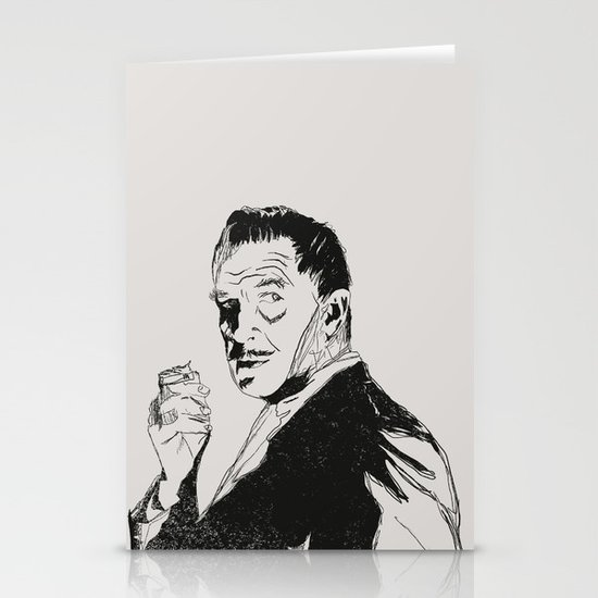 Vincent Price Stationery Card