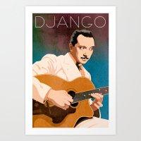 Django Reinhardt – Jaz… Art Print