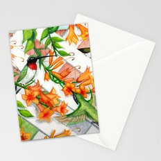 Hummingbirds and Trumpet Vines Stationery Cards
