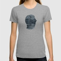 Poster Face #1 Womens Fitted Tee Athletic Grey SMALL