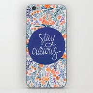 Stay Curious – Navy & … iPhone & iPod Skin