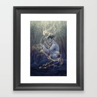 Framed Art Print featuring Worlds by Miguel Ministro