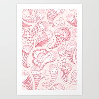 Ghostly Paisley: Bloodlust Art Print