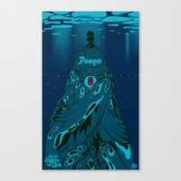 Ponyo On The Cliff By Th… Canvas Print