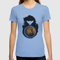 Metroid Prime Womens Fitted Tee Athletic Blue SMALL