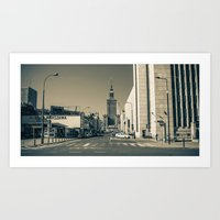 Postcard From Warsaw 4 Art Print