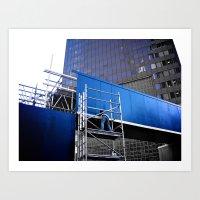 Blue Collar Worker (part 1) Art Print