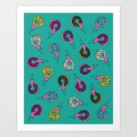 Donut Lickin's Art Print