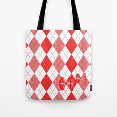 Star Wars Argyle Tie Fighter Valentine Tote Bag