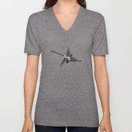 Nazca Hummingbird Typogr… Unisex V-Neck
