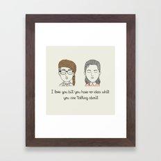 S & S Framed Art Print