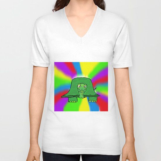 Turtle V-neck T-shirt