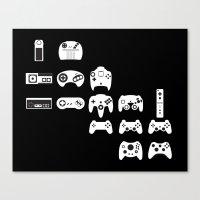 History of gaming Canvas Print