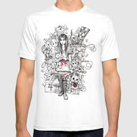 wonderland shattered Mens Fitted Tee White SMALL