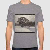 Out of the window... Mens Fitted Tee Tri-Grey SMALL