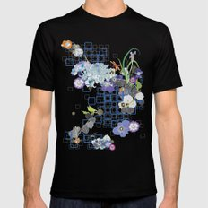 Japanese Garden Mens Fitted Tee Black SMALL