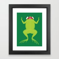 Knife the frog Framed Art Print