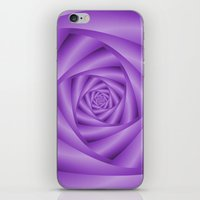Violet Spiral iPhone & iPod Skin