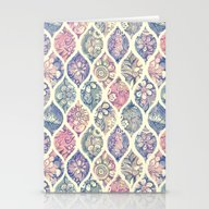 Patterned & Painted Flor… Stationery Cards
