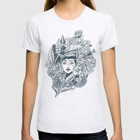 Ecstasy & Decay Womens Fitted Tee Ash Grey SMALL