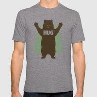 Bear Hug? Mens Fitted Tee Tri-Grey SMALL