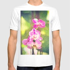 Orchid Impressions White SMALL Mens Fitted Tee