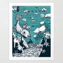 Under Water Wonderland Art Print