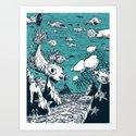 Under Water Wonderland Art Print