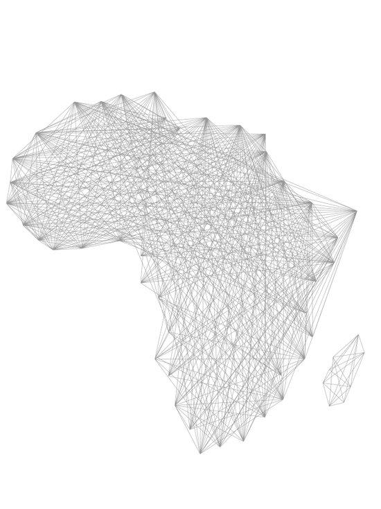 Vector Africa Canvas Print