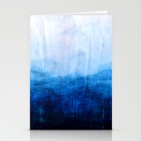 ocean Stationery Cards featuring All good things are wild and free - Ocean Ombre Painting by Prelude Posters
