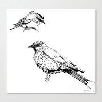 Sketchy Fellas Canvas Print