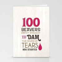 river of tears Stationery Cards