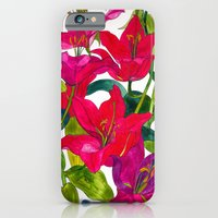 iPhone & iPod Case featuring Pink Lilies by Marcella Wylie