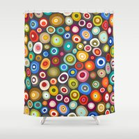 freckle spot lead Shower Curtain