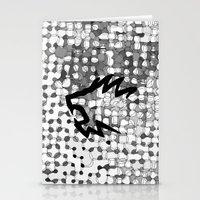 Retropattern Dark Gray Stationery Cards