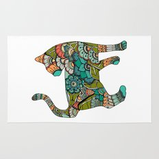 Vegetarian cat Rug