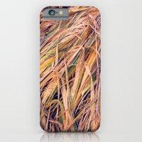 iPhone & iPod Case featuring autumn grass by angelenka