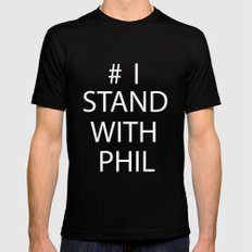 Stand With Phil Mens Fitted Tee Black SMALL