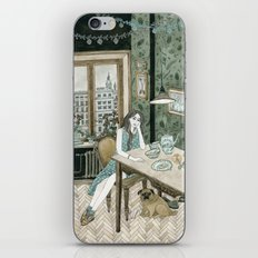 At home with a pug iPhone & iPod Skin