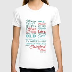 Satisfied Mind Womens Fitted Tee White SMALL
