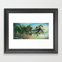 Robot & Rex Framed Art Print