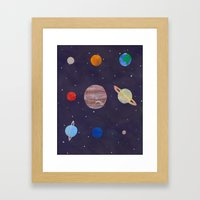 The 9 Planets! Framed Art Print