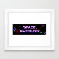 Space Adventures Arcade banner Framed Art Print