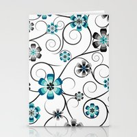 Winter Flowers Stationery Cards