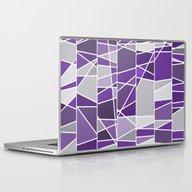 Purple And Grey Laptop & iPad Skin