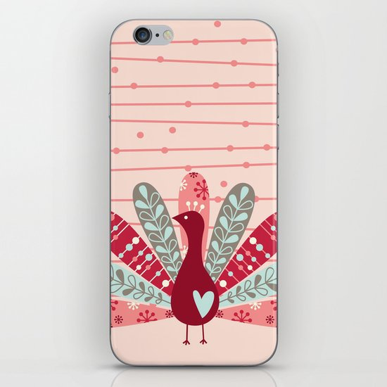 Garden Peacock iPhone & iPod Skin