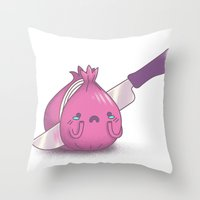 Holding Back Tears Throw Pillow