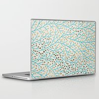 winter Laptop & iPad Skins featuring Berry Branches – Turquoise & Gold by Cat Coquillette