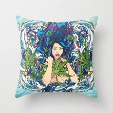 GANJA GIRL Throw Pillow