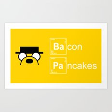Making Bacon Pancakes Art Print